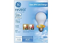 72 Watt GE reveal® Halogen A19 Light Bulb, Soft White, 2/Pack