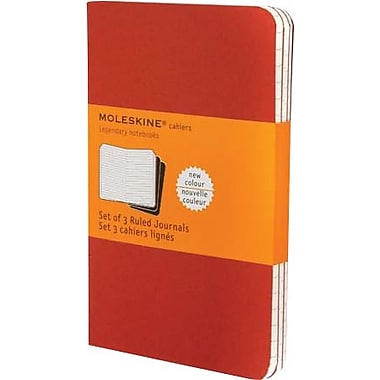 Moleskine® Cahier Pocket Ruled Journal, Red, 3 - 1/2