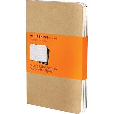 Moleskine® Cahier Pocket Ruled Journal, Kraft, 3 - 1/2