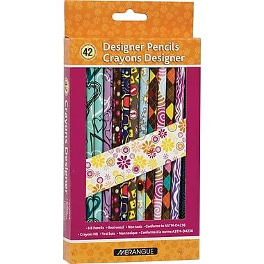 Merangue® 42/Pack Assorted Designer Pencils