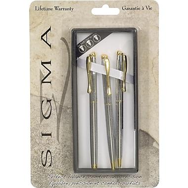 SigmaMD – Ensemble de stylo à bille, crayon au plomb et stylo à bille roulante Olympian