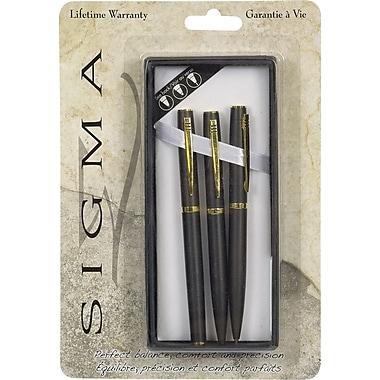 SigmaMD – Ensemble de stylo à bille, crayon au plomb et stylo à bille roulante TRI-AD