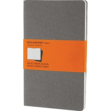 Moleskine® Cahier Large Ruled Journal, Light Warm Grey, 5