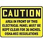 Accuform Signs® 10 x 14 Vinyl Safety Sign
