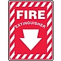 Accuform Signs® 14 x 10 Vinyl Fire Safety