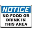 Accuform Signs® 10in. x 14in. Adhesive Vinyl Housekeeping Sign in.NOTICE NO FOOD..in., Blue/Black On White