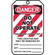 Accuform Signs® 5 3/4in. x 3 1/4in. PF-Cardstock Lockout Tag in.DANGER..LOCKED OUTin., Red/Black On White