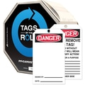 Accuform Signs® 6 1/4in. x 3in. Cardstock Tags By-The-Roll in.DANGER(Blank)in., Red/Black On White, 100/Roll