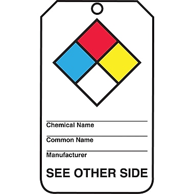 Accuform Signs® RP-Plastic Hazardous Material Tag