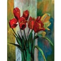 Red Raising Canvas Art Set, 5-Piece