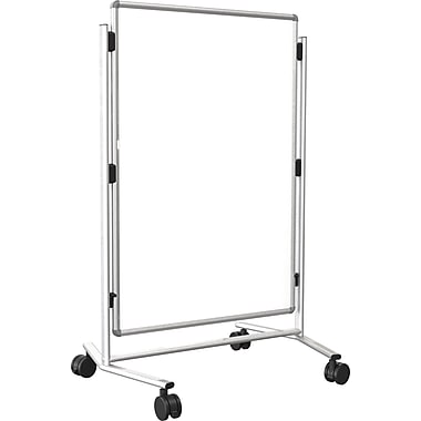 Modifier XV Height Adjustable Easel, Melamine, 40in. x 30in., Silver
