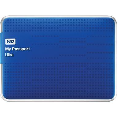 WD My Passport Ultra 500GB Portable Hard Drive (Blue)