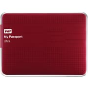 WD My Passport Ultra 500GB Portable Hard Drive (Red)