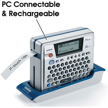 Brother P-touch PT-18R PC Ready, Rechargable Label Maker