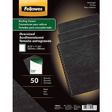 Fellowes Expressions Binding Presentation Covers, Oversize Letter, 200 Pack, Black