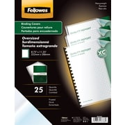 Fellowes Futura Binding Presentation Covers, Oversize Letter, 25 Pack, Frost