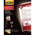 Fellowes Letter Size Thermal Laminating Pouches, 3 mil, 25 pack