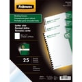 Fellowes Crystals Binding Presentation Covers, Letter, 100 Pack, Clear