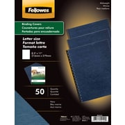 Fellowes Expressions Binding Presentation Covers, Letter, 50 Pack, Navy