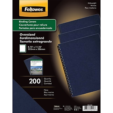 Fellowes Expressions Binding Presentation Covers, Oversize Letter, 200 Pack, Navy