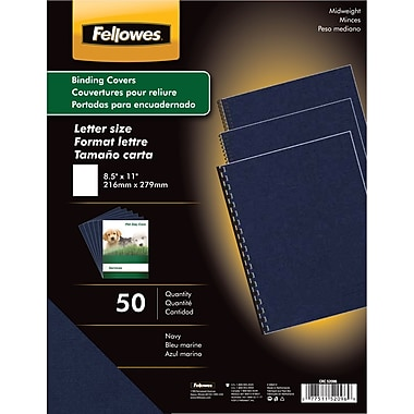 Fellowes Expressions Binding Presentation Covers, Letter, 200 Pack, Navy