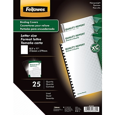 Fellowes Futura Binding Presentation Covers, Letter, 25 Pack, Lined