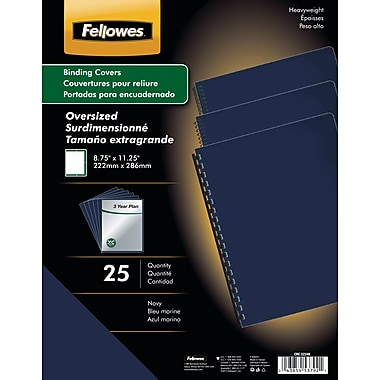Fellowes Futura Binding Presentation Covers, Oversize Letter, 25 Pack, Navy