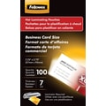Fellowes Business Card Size Thermal Laminating Pouches, 7 mil, 100 pack