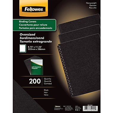 Fellowes Executive Binding Presentation Covers, Oversize Letter, 200 Pack, Black