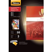Fellowes Menu Size Thermal Laminating Pouches, 3 mil, 50 pack