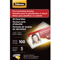 Fellowes ID Tag Size Thermal Laminating Pouches, 5 mil, 100 pack