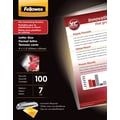 Fellowes Letter Size Thermal Laminating Pouches, 7 mil, 100 pack