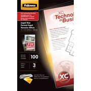 Fellowes Legal Size Thermal Laminating Pouches, 3 mil, 100 pack