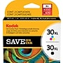 Kodak 30bxl/30cxl Black And Tri-Color Ink Cartridges (8257131),