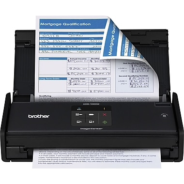 Brother ADS-1000w Wireless Duplex Color Desktop Scanner