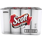 Scott® Choose-A-Size Paper Towels, 1-Ply, 12 Rolls/Pack