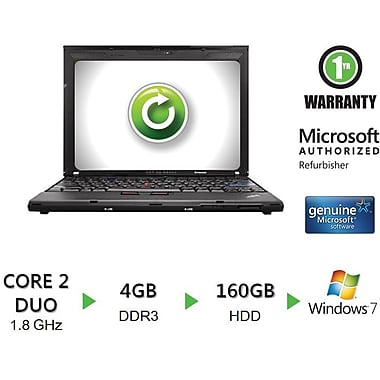 Refurbished Thinkpad X200 12.1in., 160GB Hard Drive, 2GB Memory, Intel Core 2 Duo, Win 7 Home