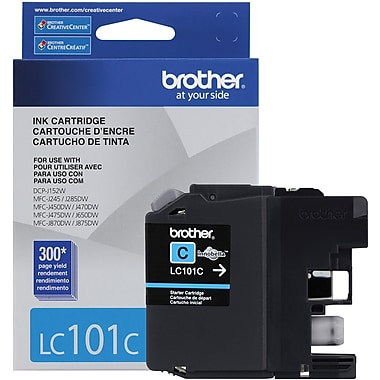 Brother - Cartouche d'encre cyan LC101 (LC101CS)