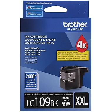 Brother LC109 Black Ink Cartridge, Super High Yield (LC109PKS)