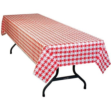 54in. X 108in. Red Gingham Print Table Cover