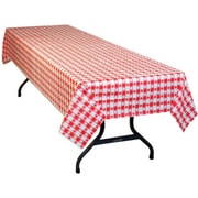 "54"" X 108"" Red Gingham Print Table Cover"