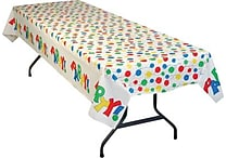 54' x 108' Party Balloon Print Table cover