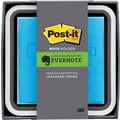 Post-it® 3in. x 3in. Flat Dispenser, Evernote Collection