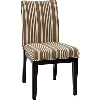 Office Star Avenue Six® Dakota Fabric Desk Chair, Mocha Stripe