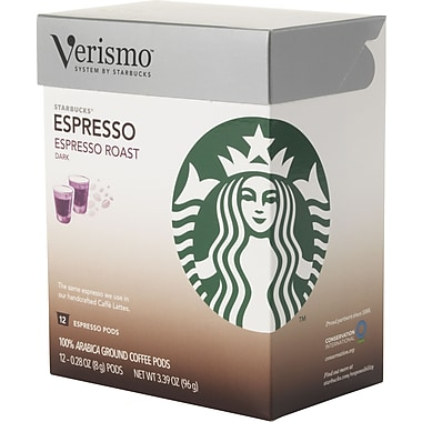 Starbucks Verismo Coffee Pods, Expresso Roast, 12/Pack