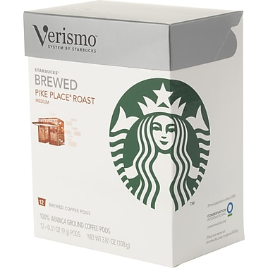 Starbucks Verismo Coffee Pods, Pike Place Roast, 12/Pack