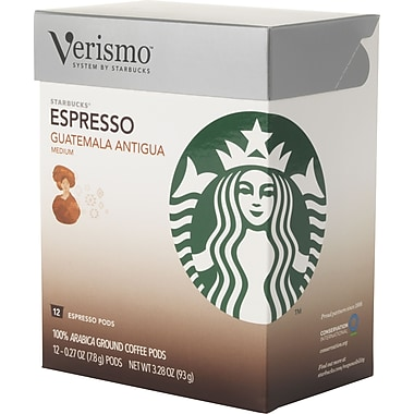 Starbucks Verismo Coffee Pods, Guatemala Antigua, 12/Pack