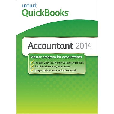QuickBooks Accountant 2014 for Windows (1-User) [Download]