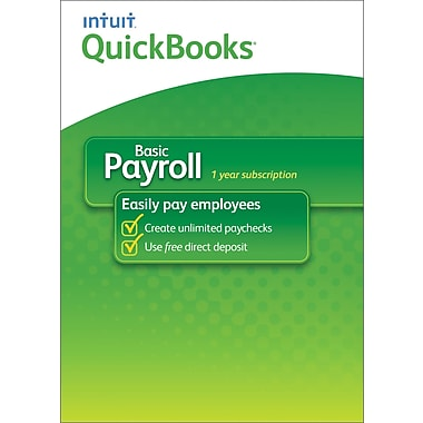 QuickBooks Payroll Basic 2014 for Windows (1 User) [Download]