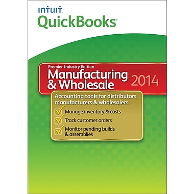 QuickBooks Premier Manufacturing & Wholesale 2014 for Windows (1-User) [Download]